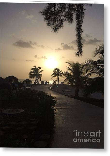 On The Beach Greeting Cards - Jamaica Sunset Greeting Card by John Telfer