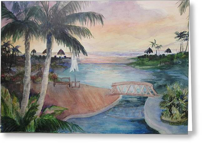 Jamaican Sunset Greeting Cards - Jamaican Dream Greeting Card by Evelyn Cassaday