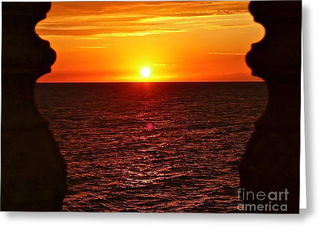 Jamaican Sunsets Greeting Cards - Jamaican Sunset 2 Greeting Card by Linda Bianic