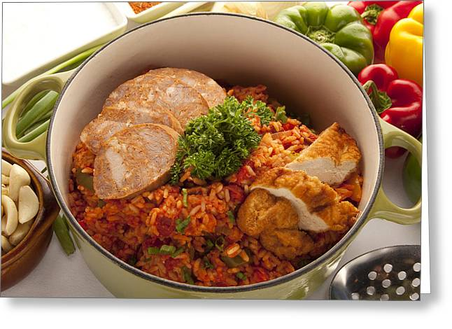 Jambalaya Greeting Cards - Jambalaya Greeting Card by New  Orleans Food