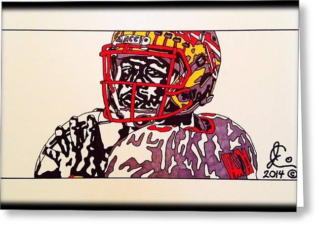 College Football Drawings Greeting Cards - Jameis Winston Greeting Card by Jeremiah Colley