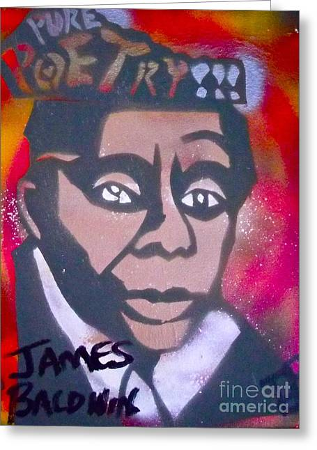 99 Percent Greeting Cards - James Baldwin Greeting Card by Tony B Conscious