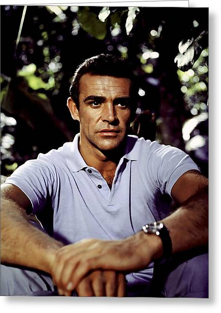 Sean Digital Art Greeting Cards - James Bond - Sean Connery Greeting Card by Nomad Art And  Design