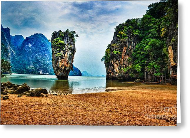 Rating Greeting Cards - James Bond Island Greeting Card by Syed Aqueel