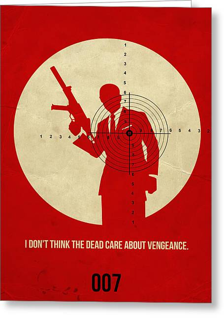 Shows Greeting Cards - James Bond Quantum of Solace Poster Greeting Card by Naxart Studio