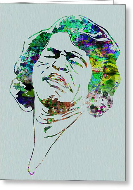 Irish Rock Band Greeting Cards - James Brown Greeting Card by Naxart Studio
