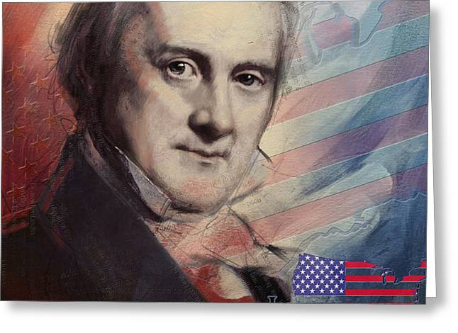 James Buchanan Greeting Card by Corporate Art Task Force