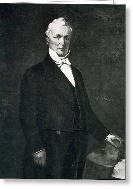 Leader Greeting Cards - James Buchanan Greeting Card by Eliphalet Frazer Andrews