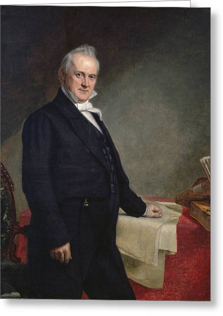 American Politician Greeting Cards - James Buchanan Greeting Card by Nomad Art And  Design