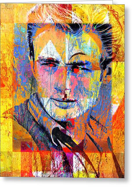 James Dean Greeting Cards - James Byron Dean Greeting Card by Mal Bray