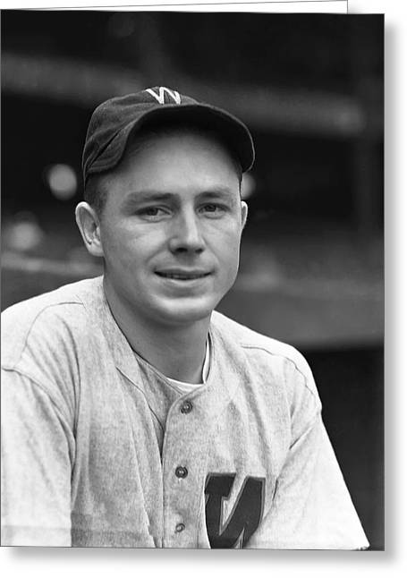 World Series Greeting Cards - James C. Jimmy Wasdell Greeting Card by Retro Images Archive