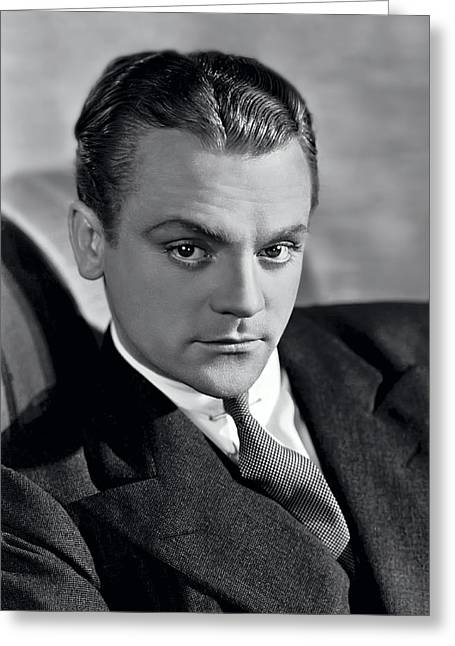 Tough Guy Greeting Cards - James Cagney Greeting Card by Daniel Hagerman