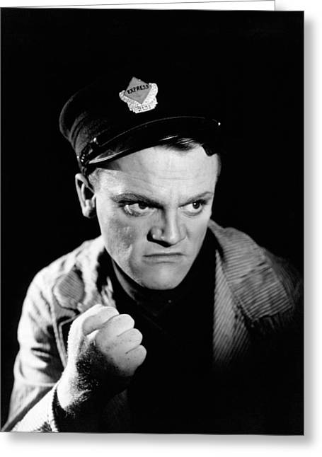James Cagney In The Public Enemy  Greeting Card by Silver Screen