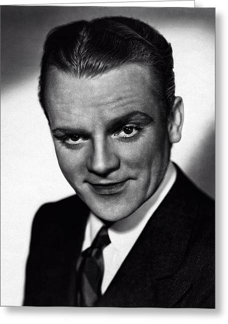 Ev-in Greeting Cards - James Cagney Greeting Card by Michael Braham