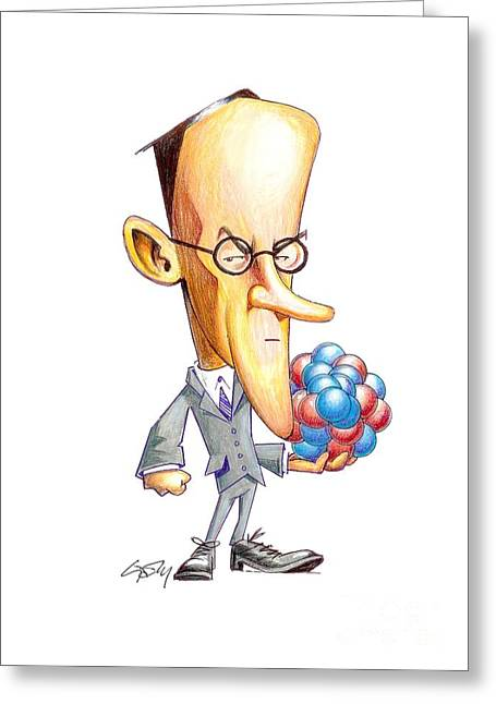 Neutron Greeting Cards - James Chadwick, British Physicist Greeting Card by Gary Brown
