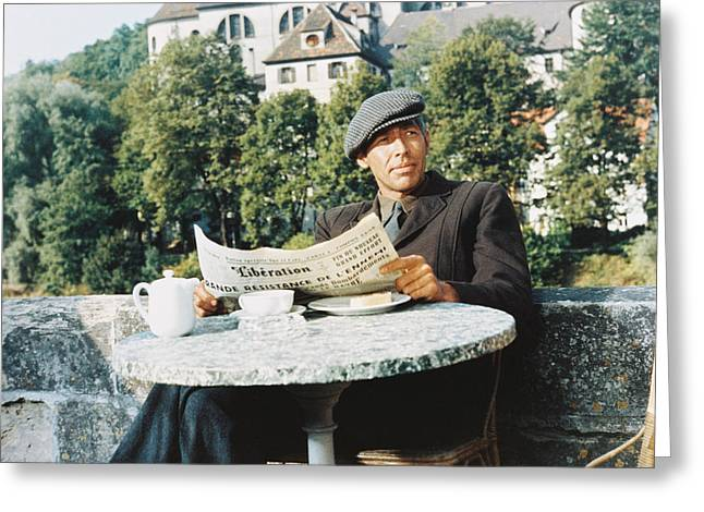 1960 Greeting Cards - James Coburn in The Great Escape Greeting Card by Silver Screen