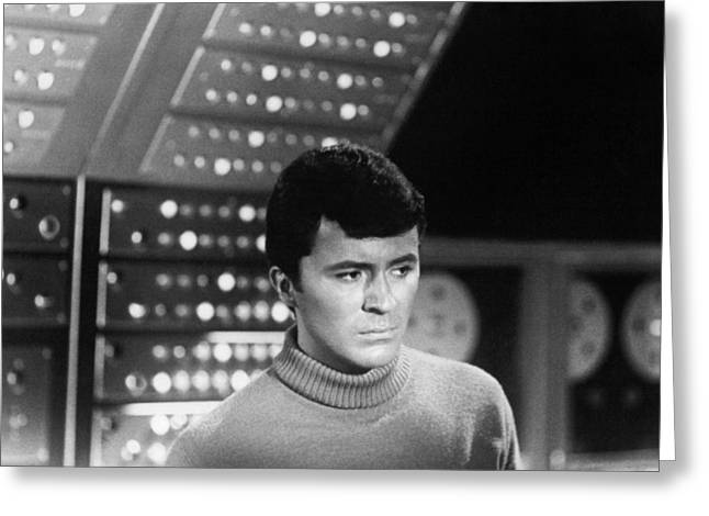 Darren Greeting Cards - James Darren in The Time Tunnel  Greeting Card by Silver Screen