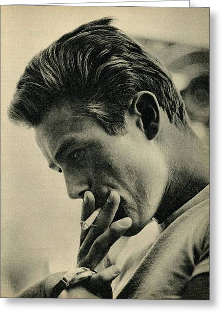 1957 Movies Photographs Greeting Cards - James Dean 2 Greeting Card by Douglas Settle