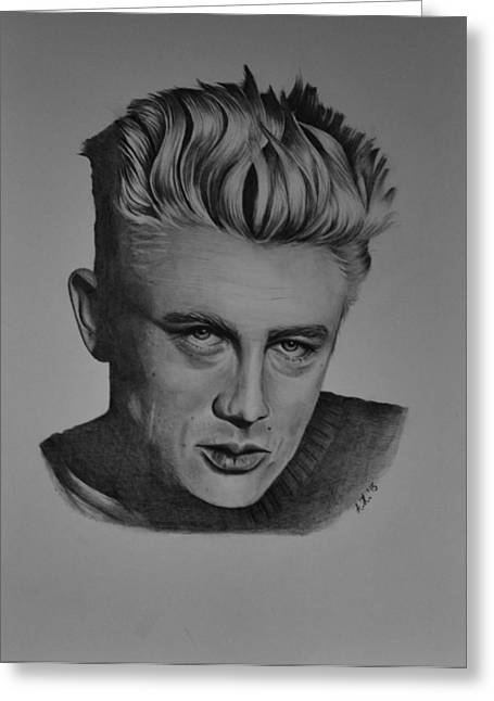 James Dean Drawings Greeting Cards - James Dean Greeting Card by Adriana Holmes