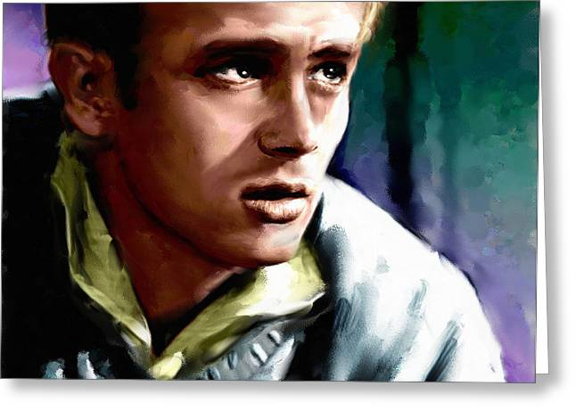 James Dean Greeting Card by Allen Glass