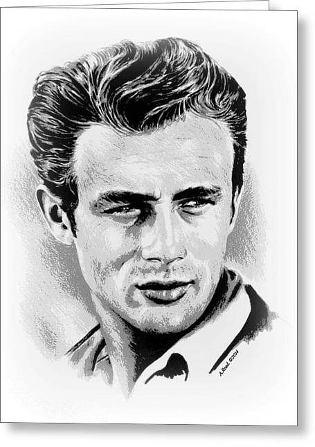 James Dean Greeting Card by Andrew Read