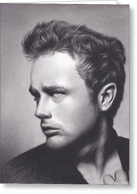 James Dean Drawings Greeting Cards - James Dean Greeting Card by Brittni DeWeese