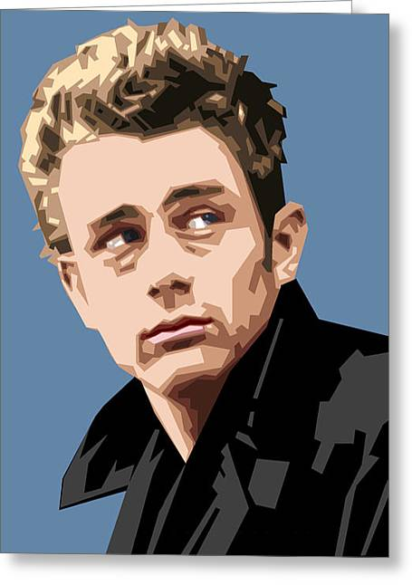 James Dean Greeting Cards - James Dean in Color Greeting Card by Douglas Simonson