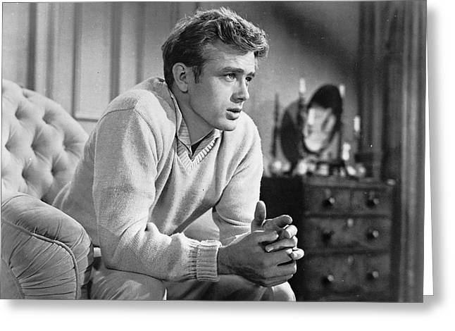 Film Still Greeting Cards - James Dean in East of Eden Greeting Card by Nomad Art And  Design