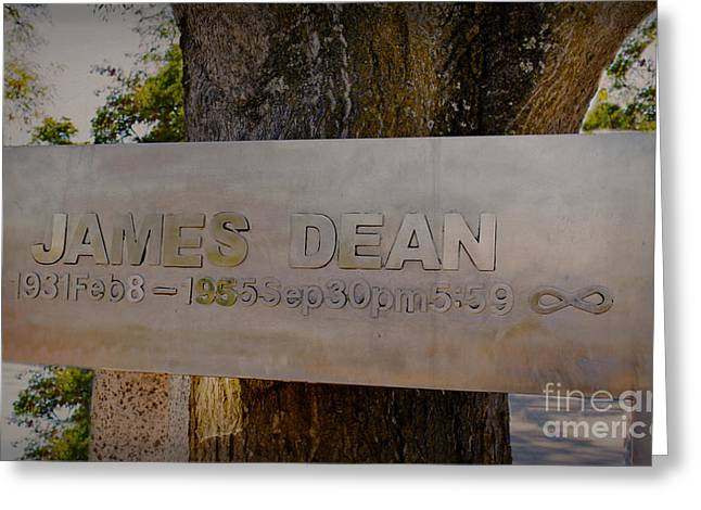 Hwy 46 Greeting Cards - James Dean James Dean Greeting Card by Janice Rae Pariza