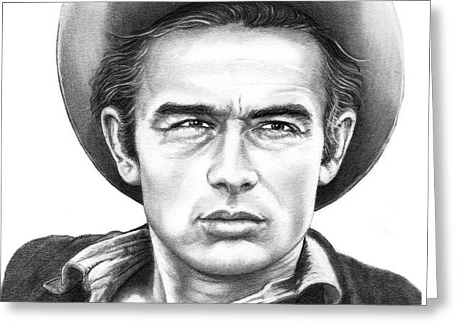 James Dean Greeting Card by Murphy Elliott