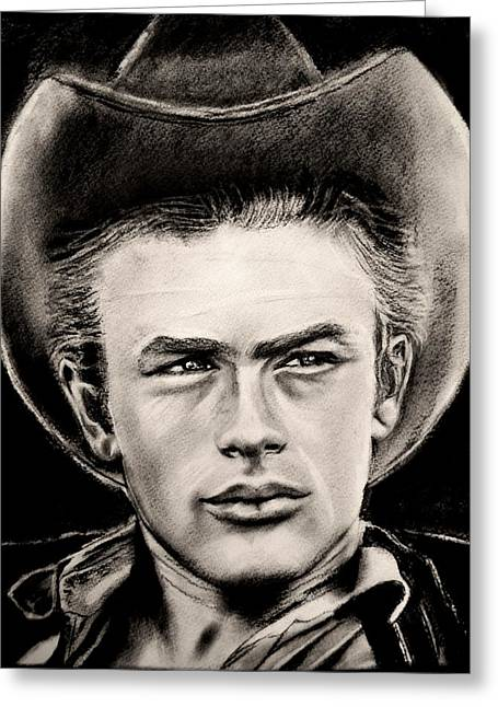 James Dean Posters Drawings Greeting Cards - James Dean Greeting Card by Sandy Dournayan