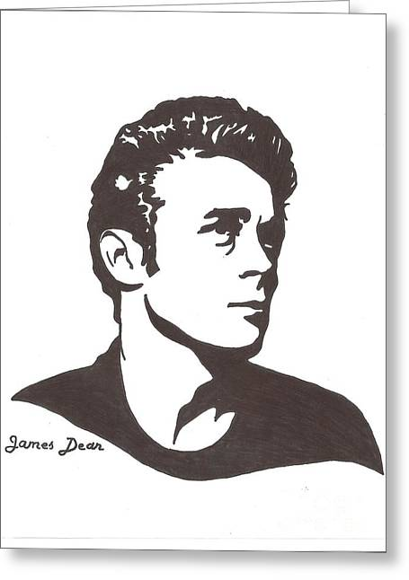 James Dean Drawings Greeting Cards - James Dean Greeting Card by Sara Ashna