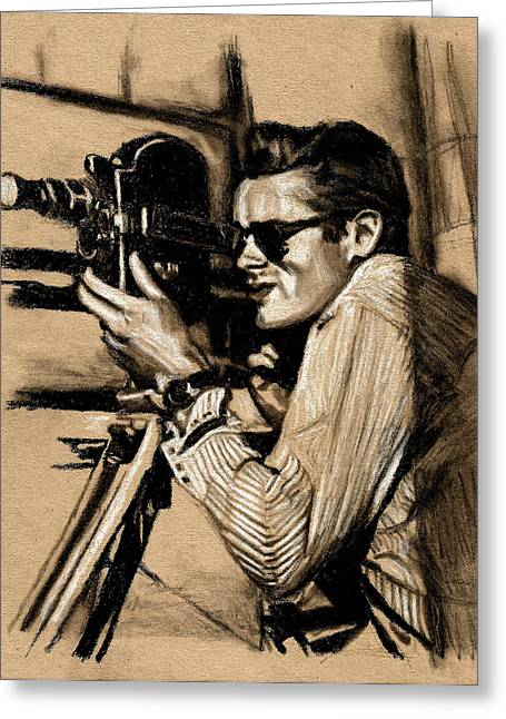 James Dean Drawings Greeting Cards - James Dean Greeting Card by Teresa Beveridge