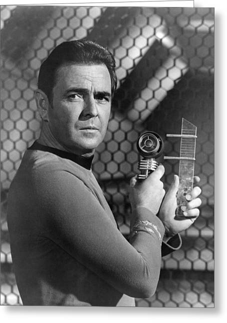 Tv Star Greeting Cards - James Doohan in Star Trek  Greeting Card by Silver Screen