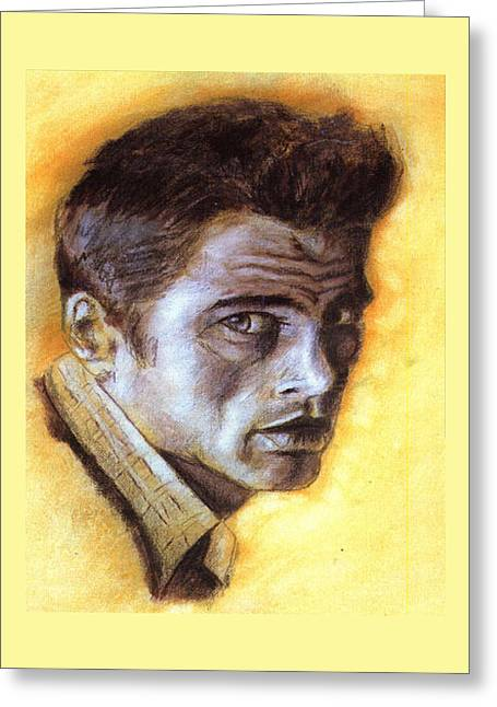 James Dean Drawings Greeting Cards - James Dean Greeting Card by Ellsbeth Page