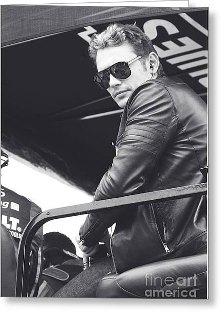 Jimmie Johnson Greeting Cards - James Franco  Greeting Card by Shanna Vincent
