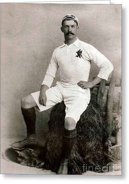 Cricketers Greeting Cards - James Frederick Byrne English Cricketer and International Rugby Player c1905 Greeting Card by Unknown