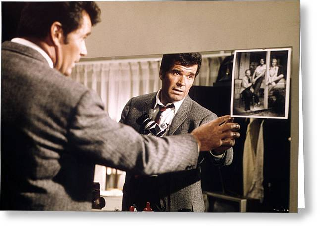 Garner Greeting Cards - James Garner in Marlowe  Greeting Card by Silver Screen