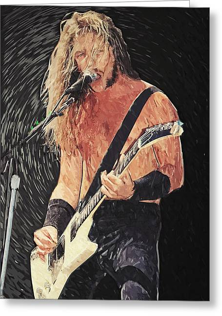 Burton Greeting Cards - James Hetfield Greeting Card by Taylan Soyturk