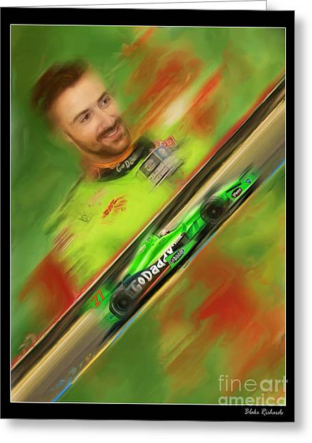 Andretti Autosport Greeting Cards - James Hinchcliffe Greeting Card by Blake Richards