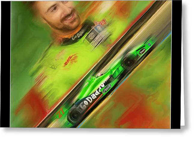 James Hinchcliffe Greeting Card by Blake Richards