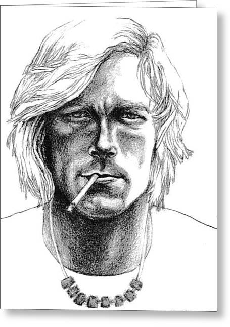 Diane Fine Greeting Cards - James Hunt Greeting Card by Diane Fine