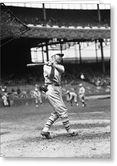 Baseball Bat Greeting Cards - James J. Jimmy OConnell Greeting Card by Retro Images Archive