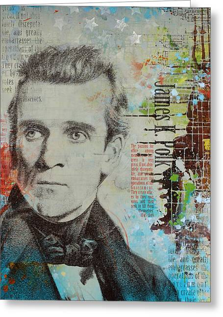 Mecklenburg County Greeting Cards - James K. Polk Greeting Card by Corporate Art Task Force