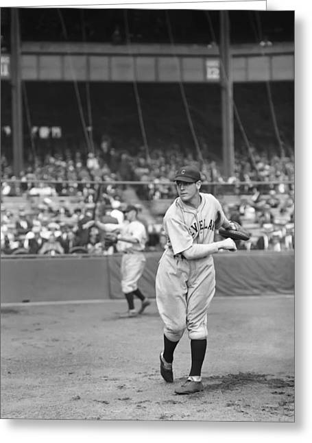 Cleveland Indians Stadium Greeting Cards - James L. Luke Sewell Greeting Card by Retro Images Archive