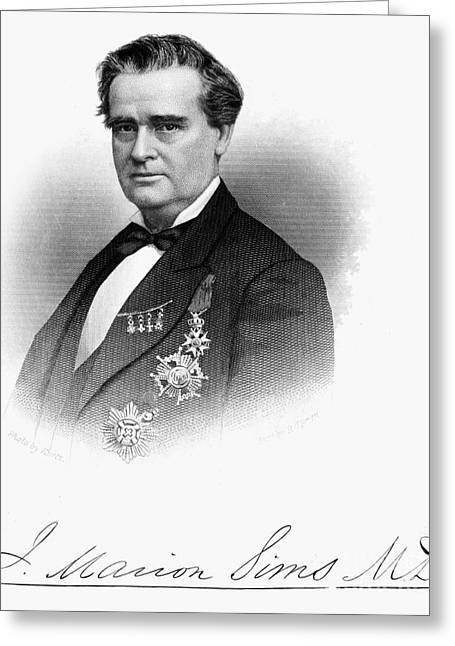 Autograph Greeting Cards - James Marion Sims Greeting Card by Granger