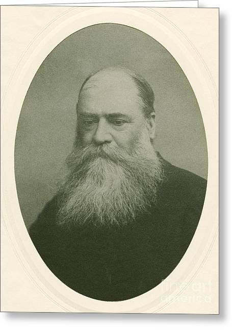Dean Of Art Greeting Cards - James Mills Peirce, Us Mathematician Greeting Card by Miriam And Ira D. Wallach Division Of Art, Prints And Photographs
