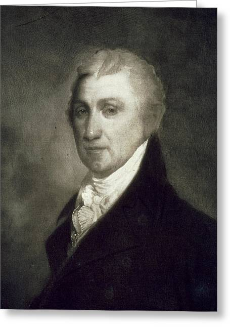 Republican Paintings Greeting Cards - James Monroe Greeting Card by American School