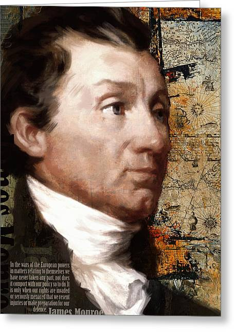 Dynasty Greeting Cards - James Monroe Greeting Card by Corporate Art Task Force