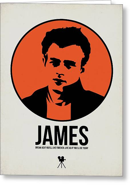 American Film Greeting Cards - James Poster 1 Greeting Card by Naxart Studio